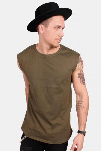 Klokkeban Classics TB1562 Open Edge Sleeveless T-shirt Olive