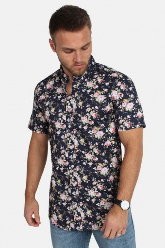 Johan Exotic S/S Shirt Rose/Navy