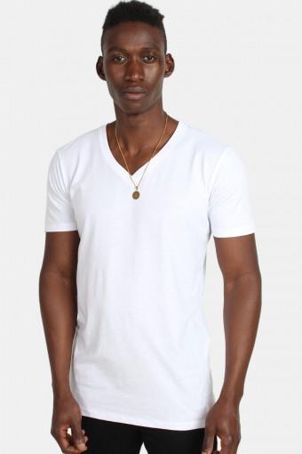 Klokkeban Classics TB1559 Basic V-Neck T-shirt White