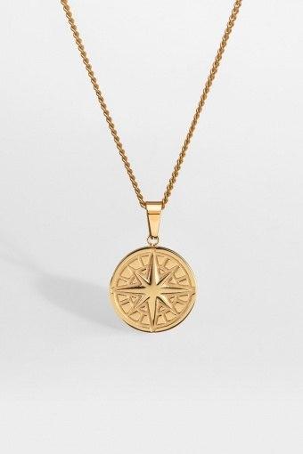 "Compass Halskjede 2.0 ""Gold"""