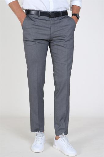 Slim Mylo Logan StructKlokkee Pants Dark Grey Melange