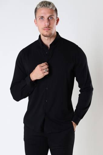 Hudson Stretch Shirt L/S Black