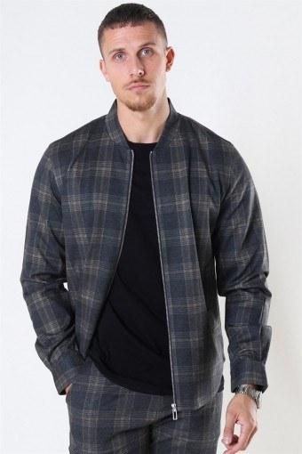 Max Overshirt Dark Grey/Camel