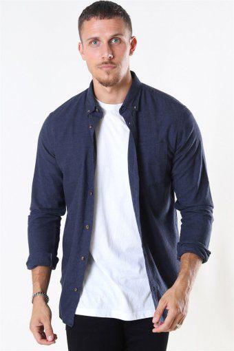 Classic Melange Skjorte Navy Blazer