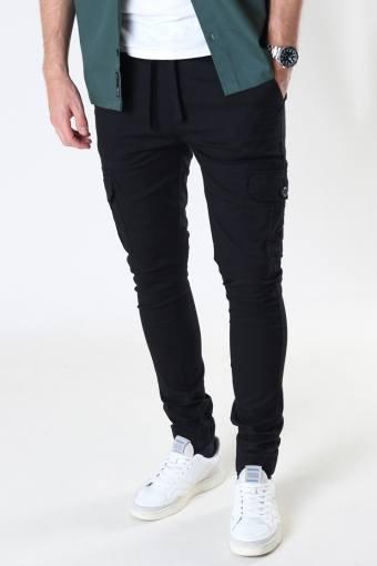 DP Caka Cargo Chino Pant 001 Black