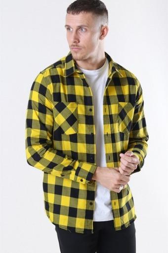 Checked Flanell Skjorte Black/Honey