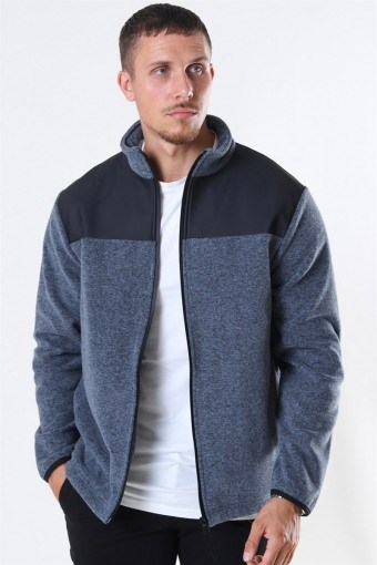 Fleece Zip Puller Jakke Grey Melange