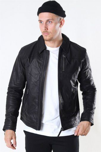 Tony Jacket Leather Black