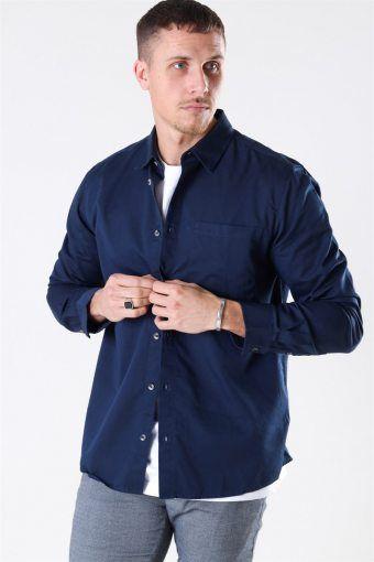 Michael Tencel Skjorte Dress Blues