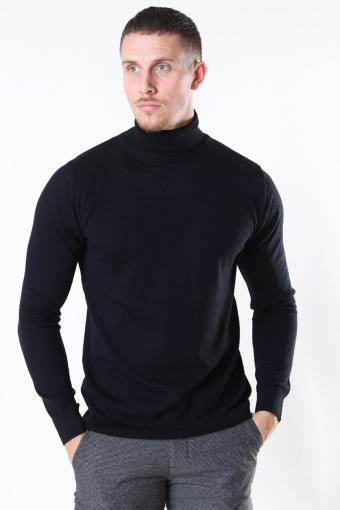 Clean Cut Merino Wool Roll Strikke Black