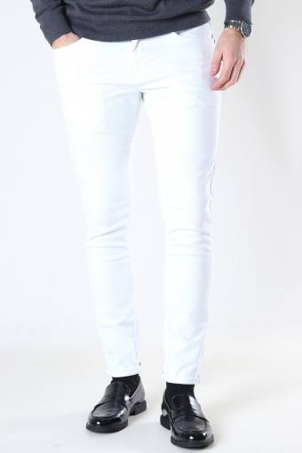 Clean Cut David Slim Stretch Jeans White Denim