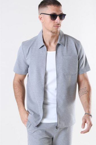 Clean Cut Arrow Shirt S/S Light Grey