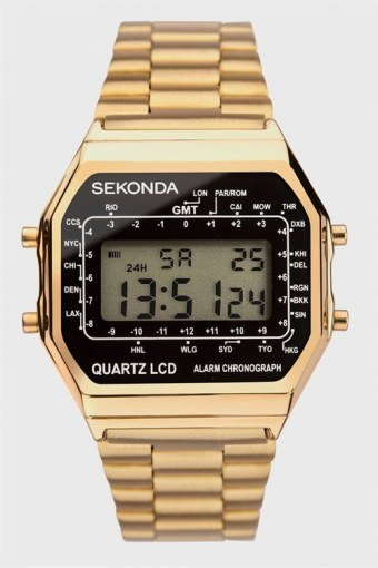 1817 Classic Gold Plated Bracelet Digital Klokke