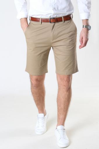 Milano Drake Stretch Shorts Khaki