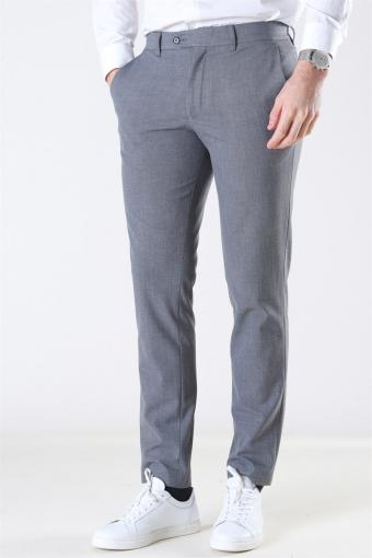 Slim-Carlo Flex StructKlokkee Pants Grey Melange