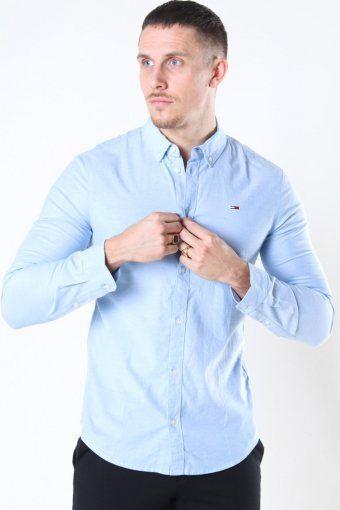 Slim Stretch Oxford Skjorte Perfume Blue