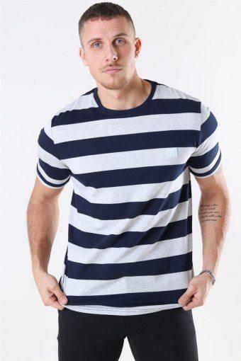 Levoir T-skjorte Snow Mel/Navy
