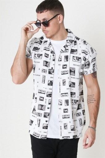 Oliver SS Printed Skjorte White