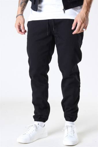 Drawstring Chino Bukser Black