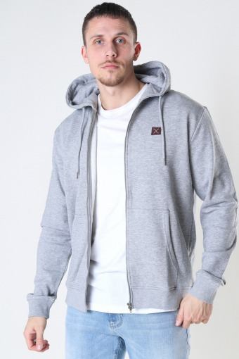 Copenhagen Basic Organic Zip Hood Light Grey Mel