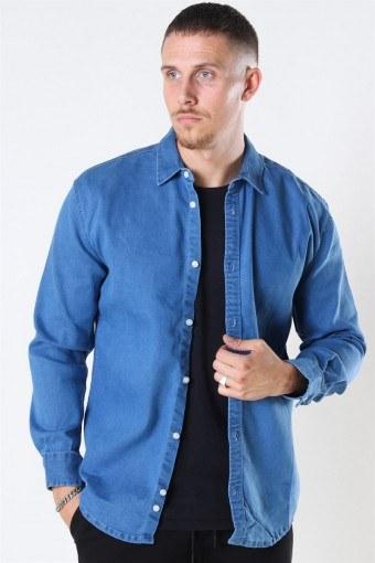 Lenny Denim Skjorte Light Blue