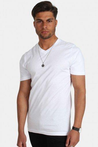 Uni Fashion V T-skjorte Hvid