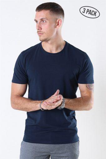 New Pima T-shirt 3-Pack Navy Blazer