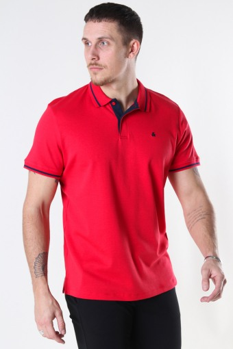 JJEJERSEY POLO SS NOOS True Red REG