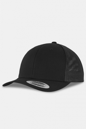 Flexfit Retro Trucker Caps Black