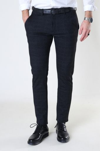 Paul KD3920 Black Shadow Check Pant Black Check