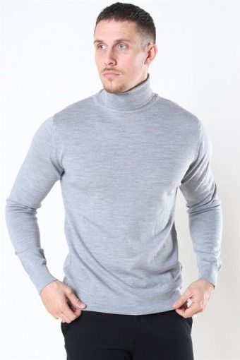 Clean Cut Merino Wool Roll Strikke Light Grey Mel