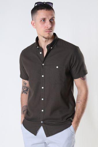 Johan Linen S/S shirt Army